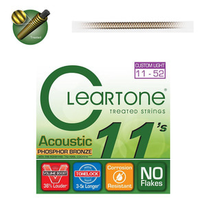 Cleartone PHOSPHOR BRONZE ACOUSTIC 11-52 통기타줄